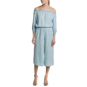 Walter Baker Chambray Off The Shoulder Jumpsuit